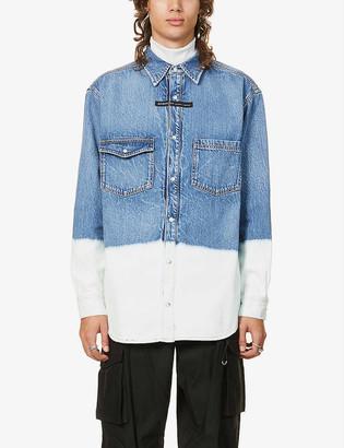 Givenchy Bleach-dipped denim shirt