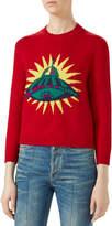 Gucci UFO Intarsia Crewneck Sweater