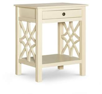 Linon Whitley Antique End Table White