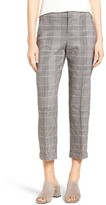 NYDJ Women's Denise Glen Plaid Cuff Slim Ankle Pants