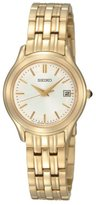 Seiko Women's SXDC24 Dial Gold-Tone Stainless Steel Watch