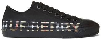 Burberry Black Larkhall Logo Sneakers