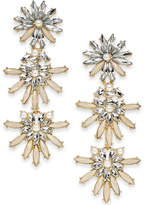 INC International Concepts I.N.C. Gold-Tone Stone & Crystal Flower Triple Drop Earrings, Created for Macy's