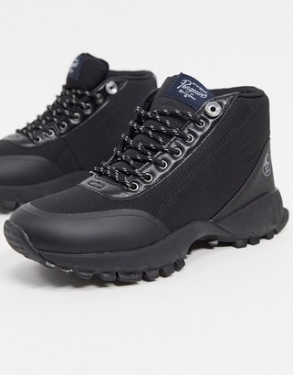 Original Penguin chunky contrast sole sneakers boot in black mix