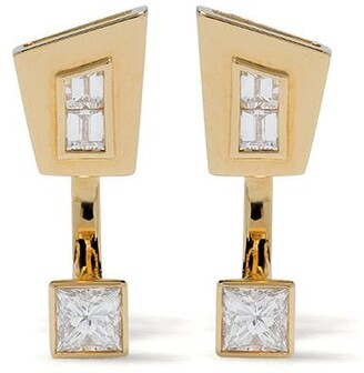 Stephen Webster 18kt yellow gold Dynamite diamond stud earrings