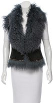 Fendi Shearling Toggle Vest w/ Tags