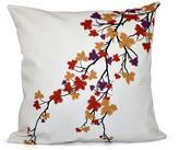 16 in. x 16 in. Maple Hues Flower Print Pillow in Purple