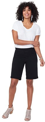 NYDJ 9 Pull-On Shorts with Roll Cuffs (Black) Women's Shorts