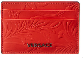 Versace Baroque Pattern Leather Card Case