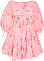 Innika Choo Frill Mini Smocked Dress