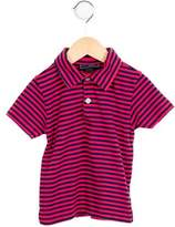Oscar de la Renta Girls' Striped Collared Top