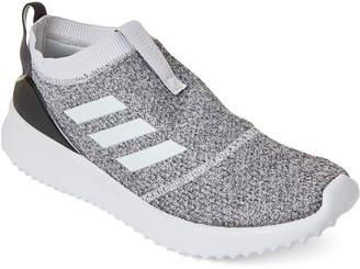 adidas Cloud White & Black Ultimafusion Knit Slip-On Sneakers
