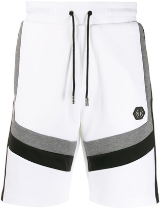 Philipp Plein Contrasting Stripe Track Shorts