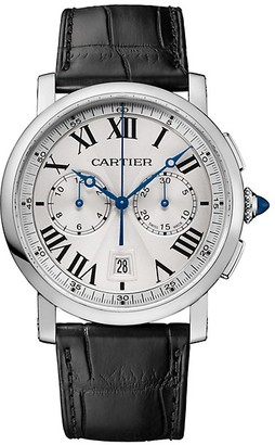 Cartier Rotonde de Automatic Chronograph Stainless Steel & Alligator Strap Watch
