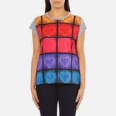 Paul Smith Women's Neon Heart TShirt - Grey