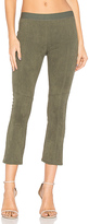 David Lerner Faux Suede Legging in Olive. - size M (also in XS)