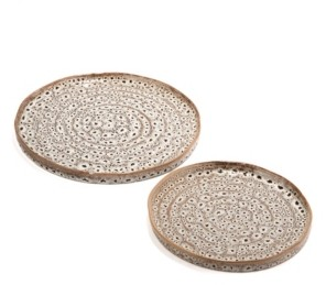 Twos Company Two's Company Katla Brown Speckled Platters - Set of 2