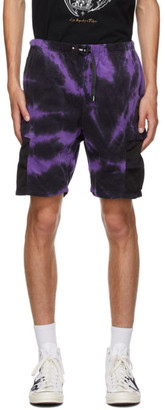 Neighborhood Purple and Black Gramicci Edition Tie-Dye Shorts