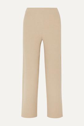 Nanushka Sense Ribbed-knit Pants - Beige