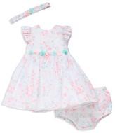 Little Me Girls' Shimmer Dress, Bloomers & Headband Set - Baby