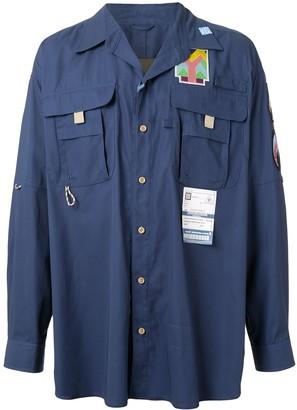 Maison Mihara Yasuhiro Layered Harness Shirt Jacket