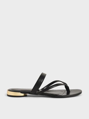 Charles & Keith Open-Toe Thong Sandals