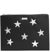 Stella McCartney Lame Stars Faux Leather Zip Pouch - Black