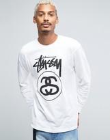 Stussy Long Sleeve T-shirt With Large Logo