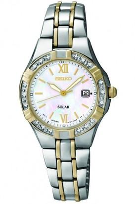 Seiko Ladies Diamond Solar Powered Watch SUT068P9