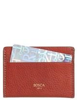 Bosca Men's Leather Card Case - Brown