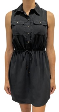 BeBop Juniors' Sleeveless Solid Shirtdress