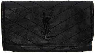 Saint Laurent Black Large Flap Niki Wallet