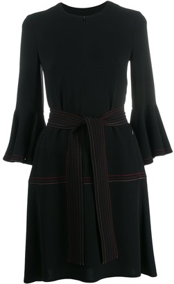 Talbot Runhof Belted Dress