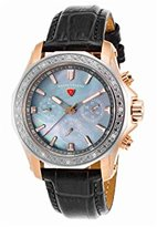Swiss Legend Women's 'Islander' Quartz Stainless Steel and Leather Watch, Color:Grey (Model: 16200SM-SR-014-GRYS)