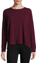 Eileen Fisher Fine-Gauge Cashmere Crewneck Sweater, Raisonette