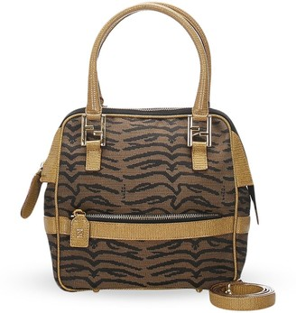Fendi Pre Owned Animal Pattern Tote Bag