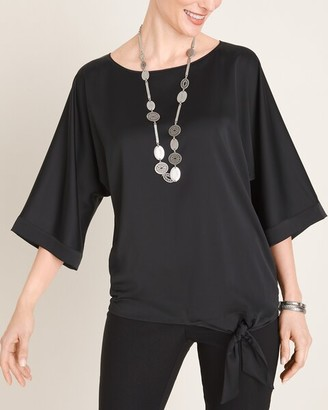 Chico's Tie-Detail Dolman-Sleeve Blouse