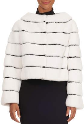 Oscar de la Renta Mink Fur Bolero with Knit Details