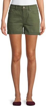 Time and Tru Women's Mid Rise Denim Shorts