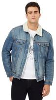 Levi's Blue Stonewash Sherpa Lined Denim Jacket