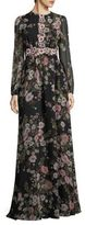Giambattista Valli Long Sleeve Floral Gown