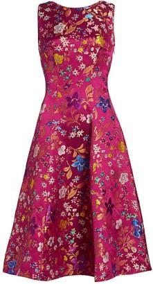 Etro Floral Brocade Midi Dress