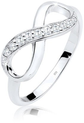 Elli 925 Sterling Silver Infinity Symbol with Zirconia Crystals 0610360913_54
