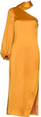 STAUD one-sleeve midi dress