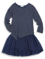 Splendid Toddlers and Little Girls Two-Piece Striped Top and Tulle Skirt Set