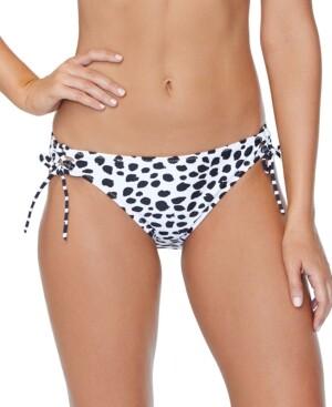Thumbnail for your product : Raisins Juniors' Eco-Capsule Spot On Printed Tie-Side Bikini Bottoms Women's Swimsuit