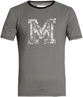 Maison Margiela Logo-print striped T-shirt