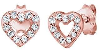 Elli Women's Rose Gold Stud Earrings 304341818