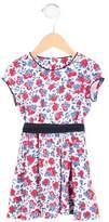 Petit Bateau Girls' Short Sleeve Belted Dress