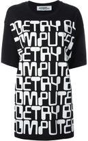 Jeremy Scott computer letters oversized T-shirt